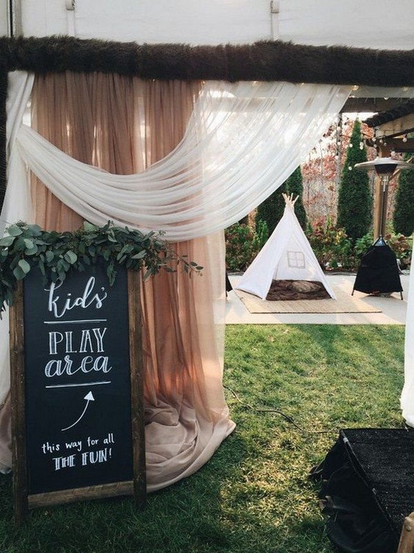 kids play area wedding ideas
