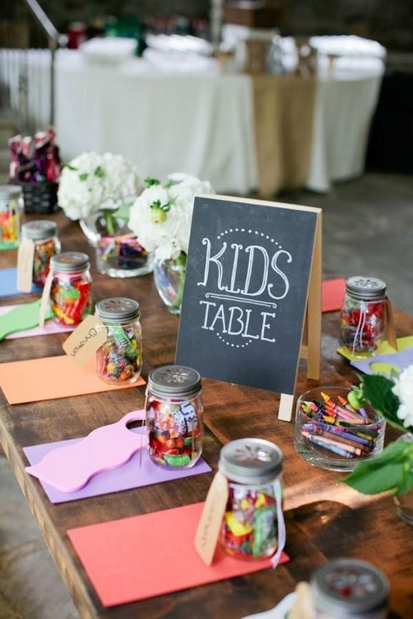 kids table wedding reception ideas