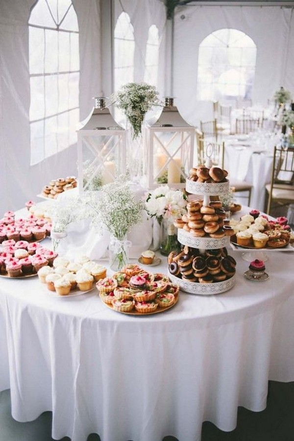 modern chic wedding dessert table display ideas