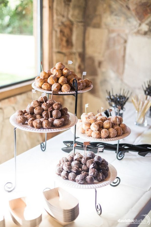 modern simple wedding dessert display ideas