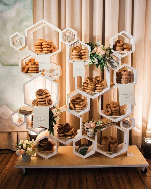modern wedding dessert display ideas