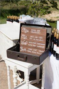 outdoor fall wedding drink station ideas