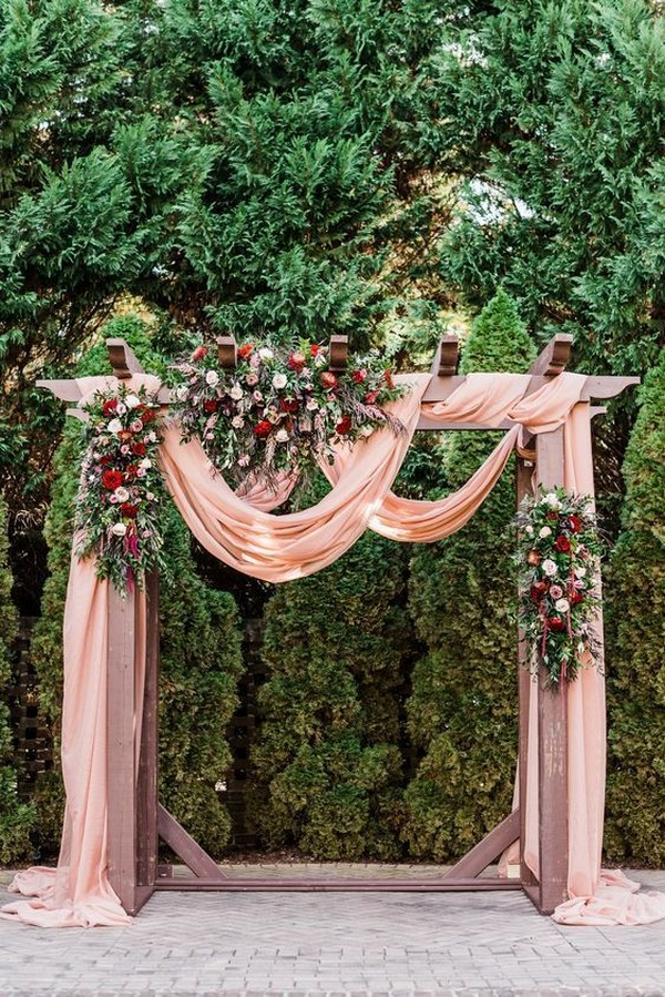 outdoor wedding arch decoration ideas