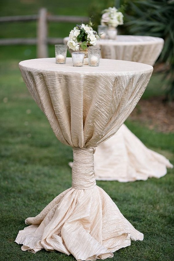 outdoor wedding cocktail table decoration ideas
