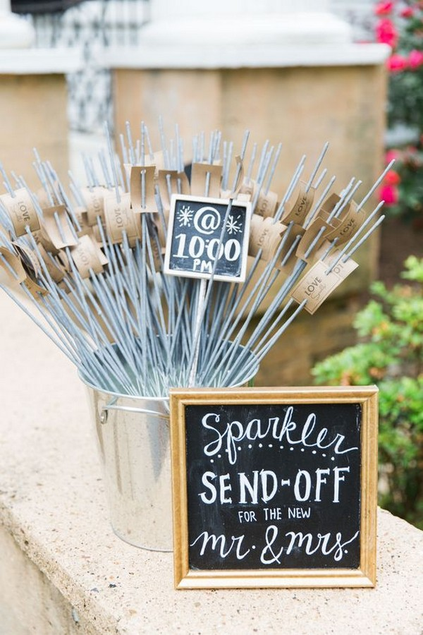 sparklers send off outdoor wedding ideas