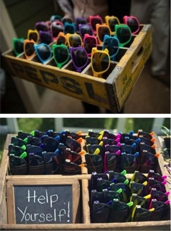 sunglasses for outdoor wedding ideas