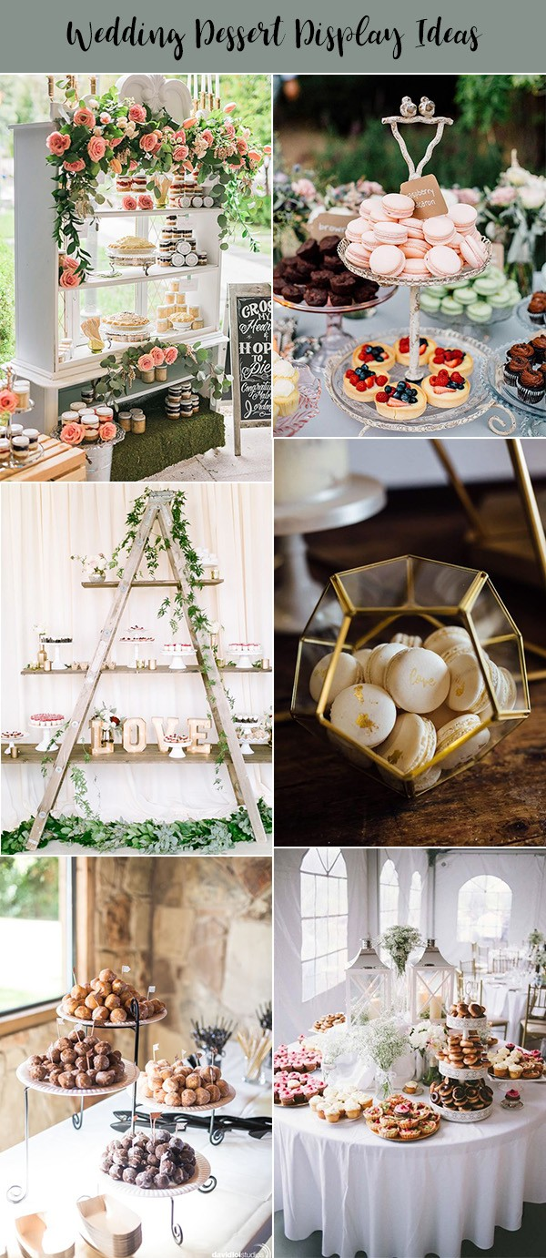 sweet wedding dessert bar display ideas