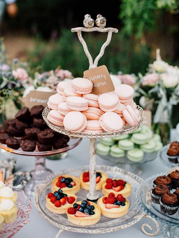 sweet wedding dessert bar ideas