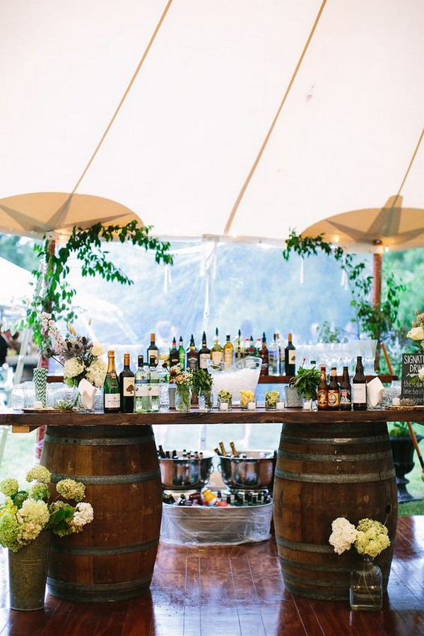 tented wedding drink bar ideas