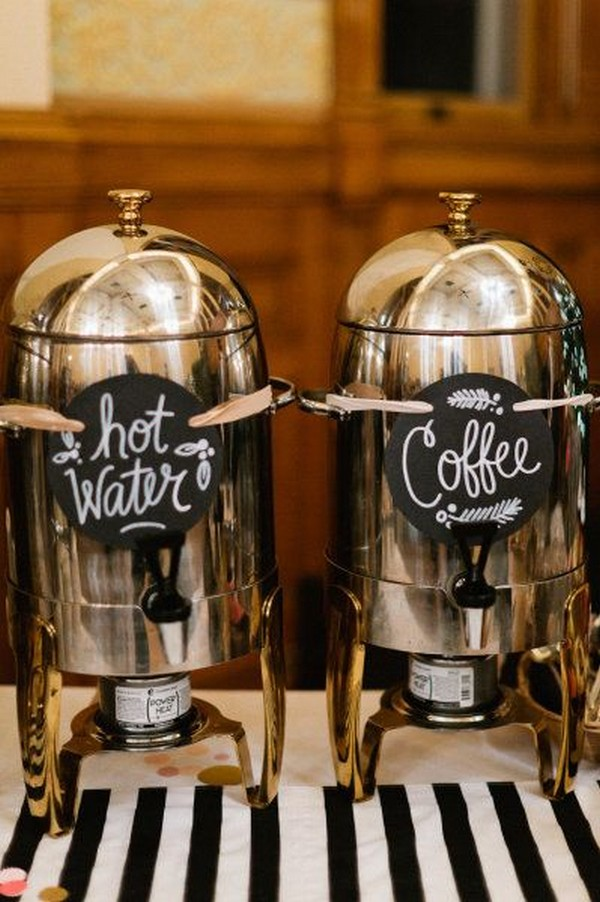 vintage fall wedding drink station