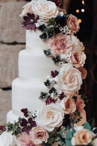 wedding cake with florals