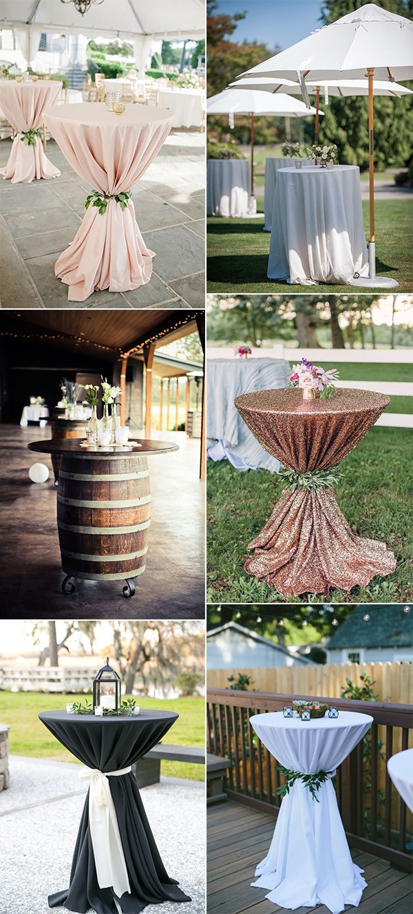 wedding cocktail table decoration ideas