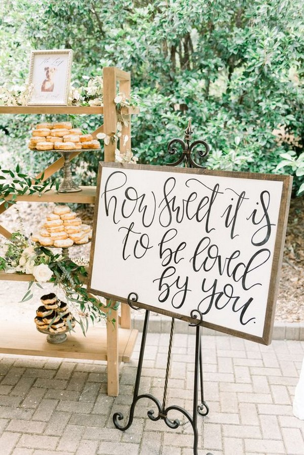 wedding dessert donuts display ideas