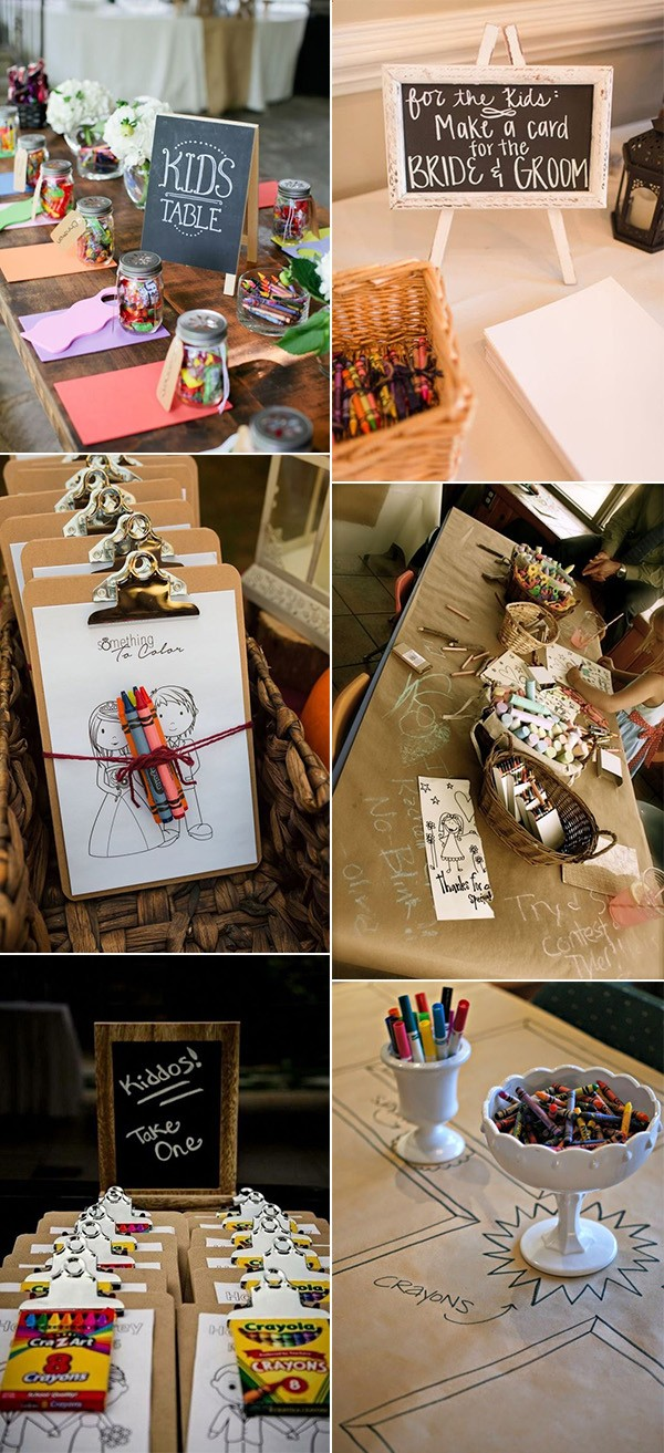 wedding kids table ideas to entertain them