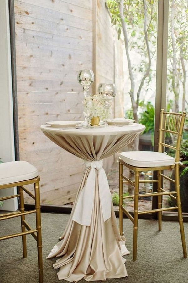 wedding reception cocktail table decoration ideas
