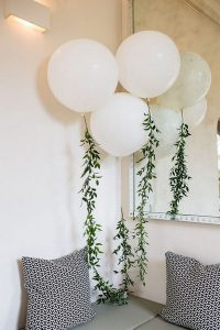 Giant Balloons with Foliage Garland Wedding Decorations