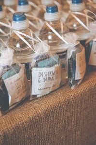 In Sickness and In Health drinking wedding favor ideas 2