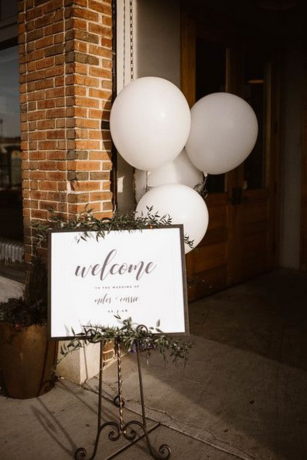 Wedding Welcome Sign with balloons