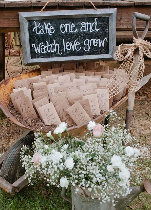 Wildflower seed wedding favors 2