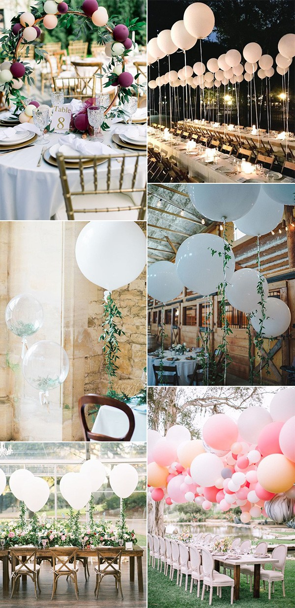 balloons decorated wedding reception ideas