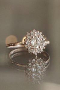 champagne gold diamond engagement ring