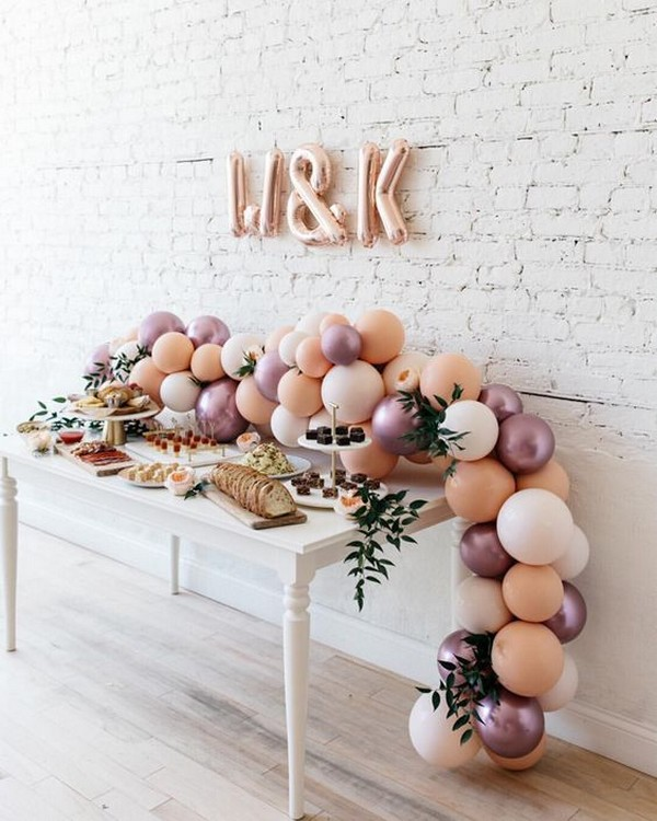 chic wedding dessert table setting ideas