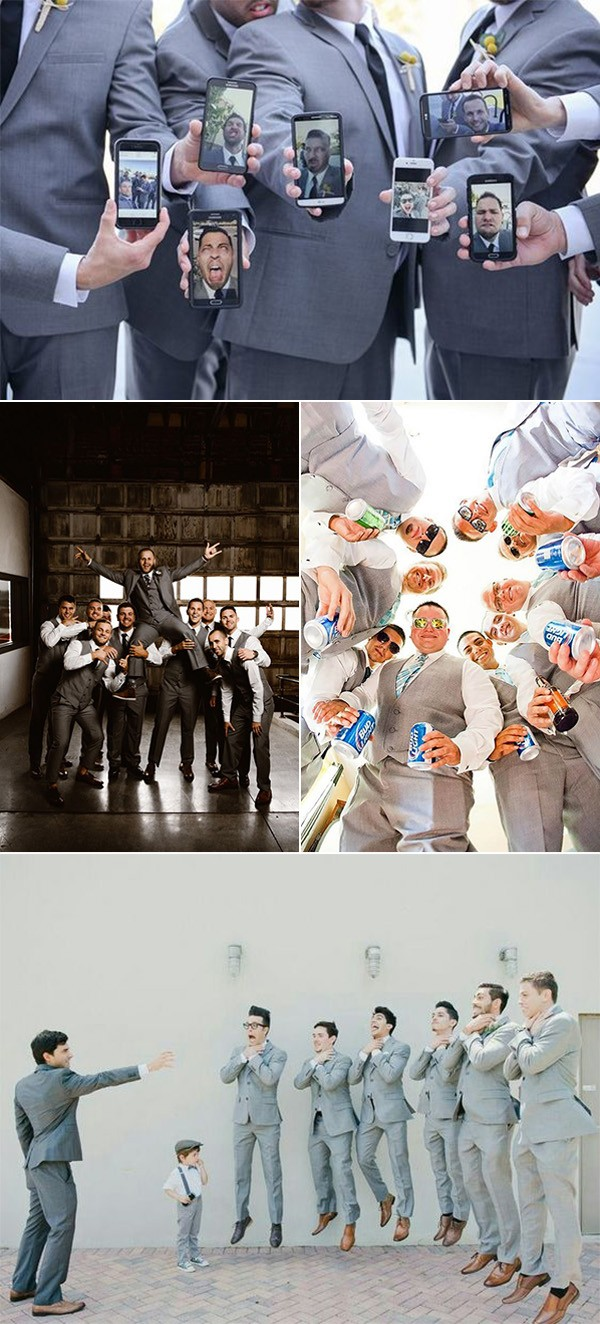 creative and fun groomsmen photo ideas