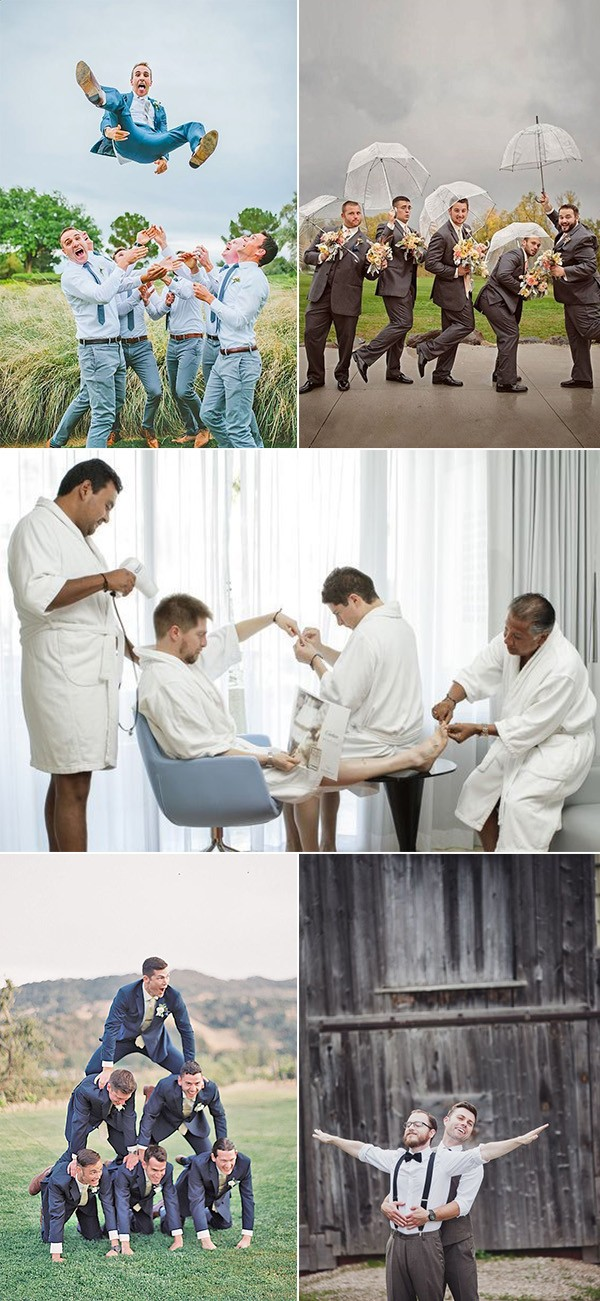 creative and funny groomsmen photo ideas