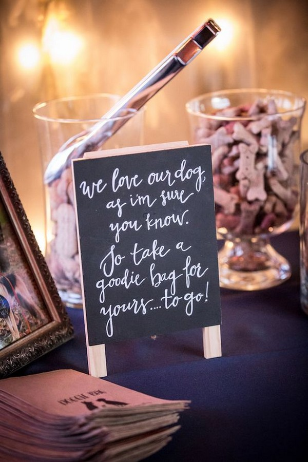 diy dog treats wedding guest favors