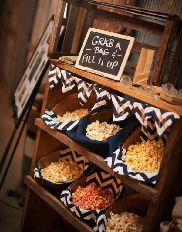 diy popcorn wedding favor ideas 2