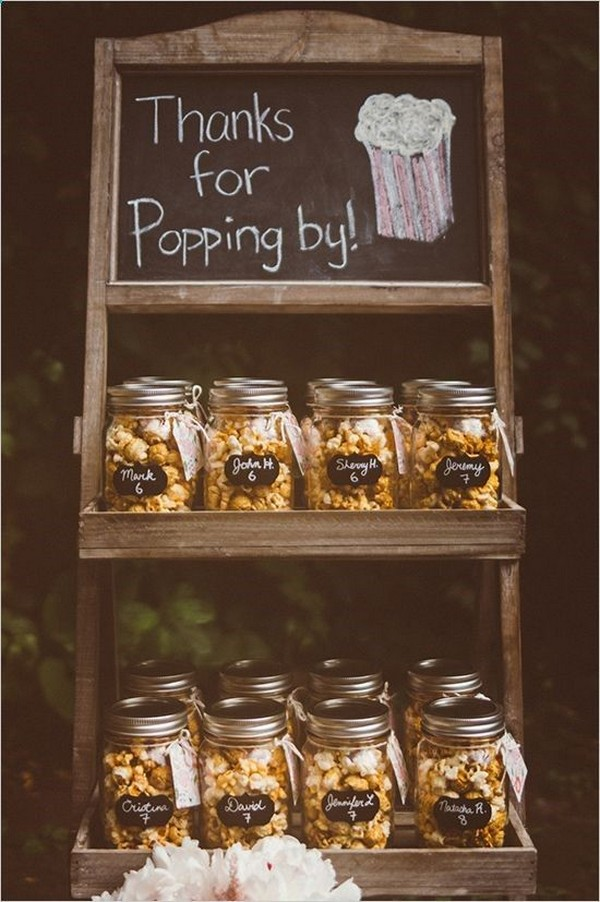 diy popcorn wedding favor ideas