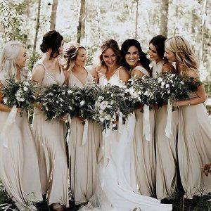 elegant neutral bridesmaid dress ideas