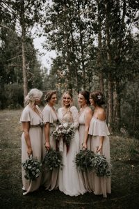 elegant neutral bridesmaid dresses