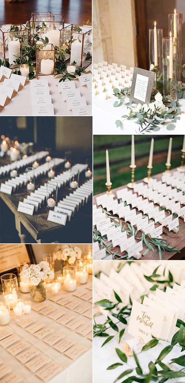 elegant wedding escort card table decoration ideas