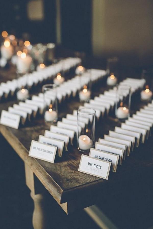 elegant wedding escort table decoration ideas