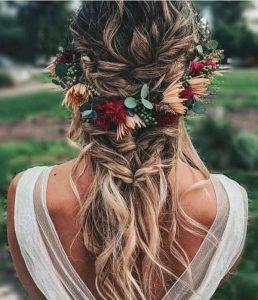 fall wedding hairstyles half up half down