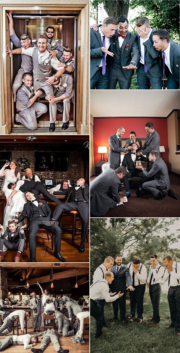 fun and creative groomsmen wedding photo ideas