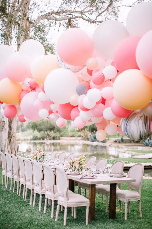 garden wedding reception ideas with balloons