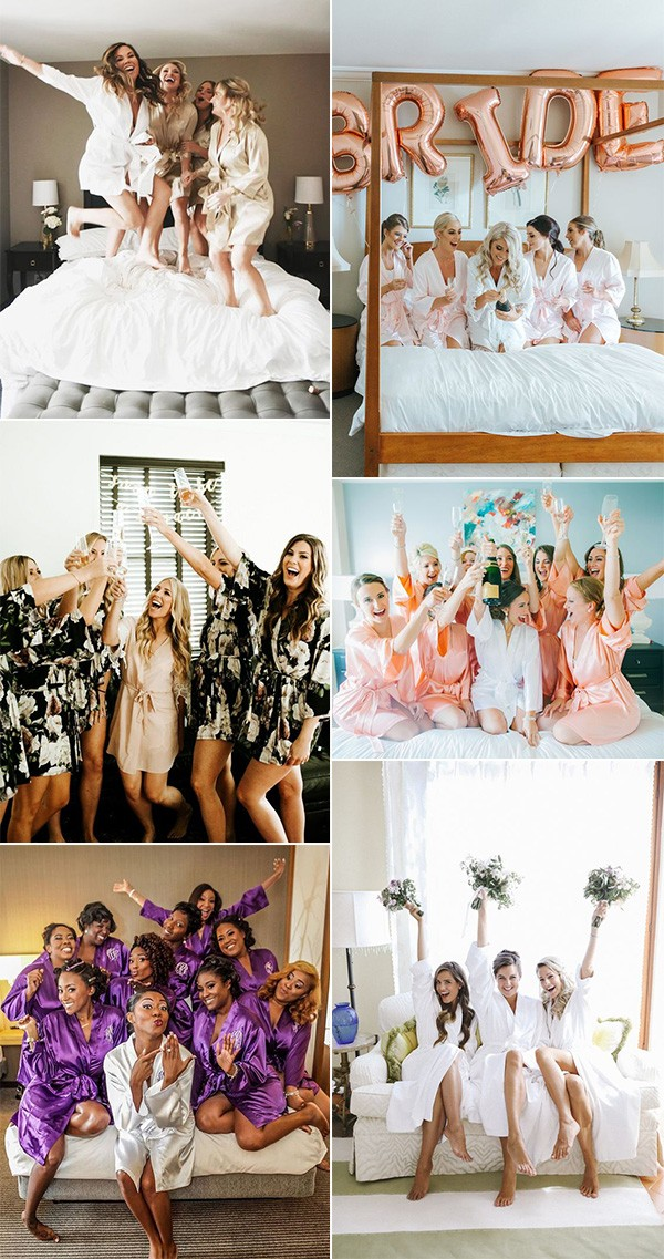 getting ready wedding photo ideas for bridal party
