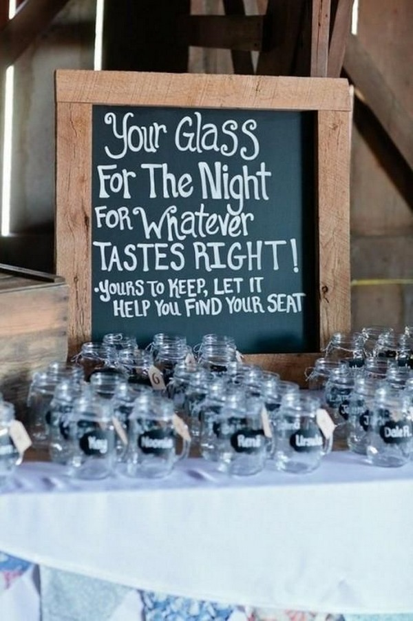 glasses for rustic wedding favor ideas