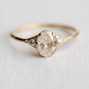 gorgeous oval cut vintage engagement ring