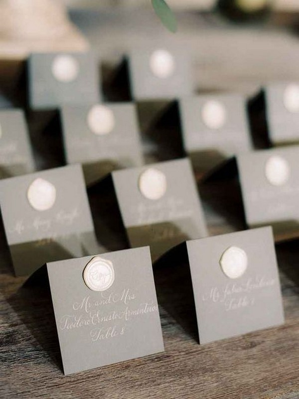 modern elegant wedding escort card ideas