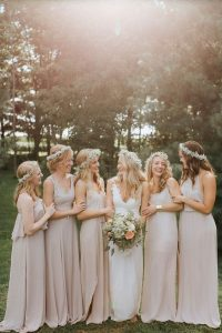 nude colors bridesmaid dresses
