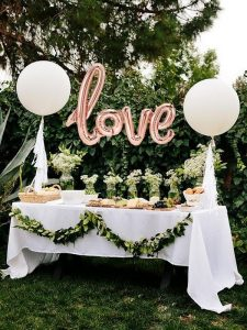 outdoor wedding dessert table decoration ideas