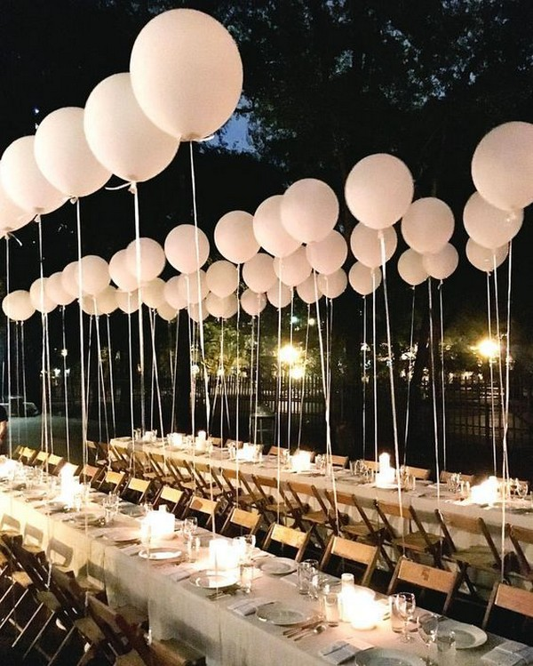 romantic wedding reception ideas with balloons
