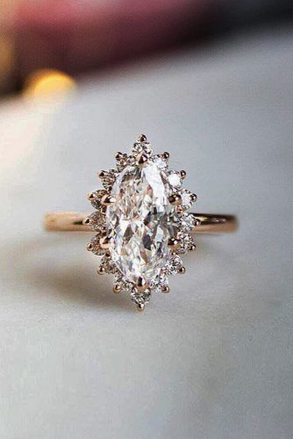 rose gold vintage wedding engagement ring