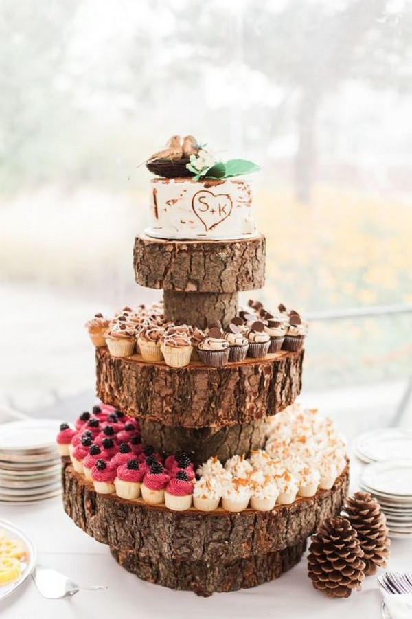 rustic vintage wedding cake ideas