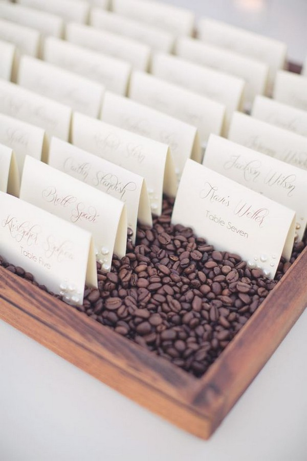 simple but elegant wedding escort card display ideas