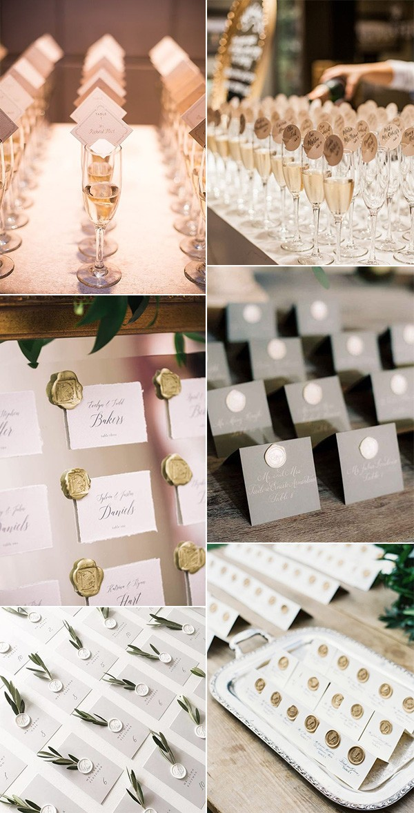 simple elegant wedding escort card ideas