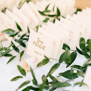 simple elegant wine themed wedding escort card ideas